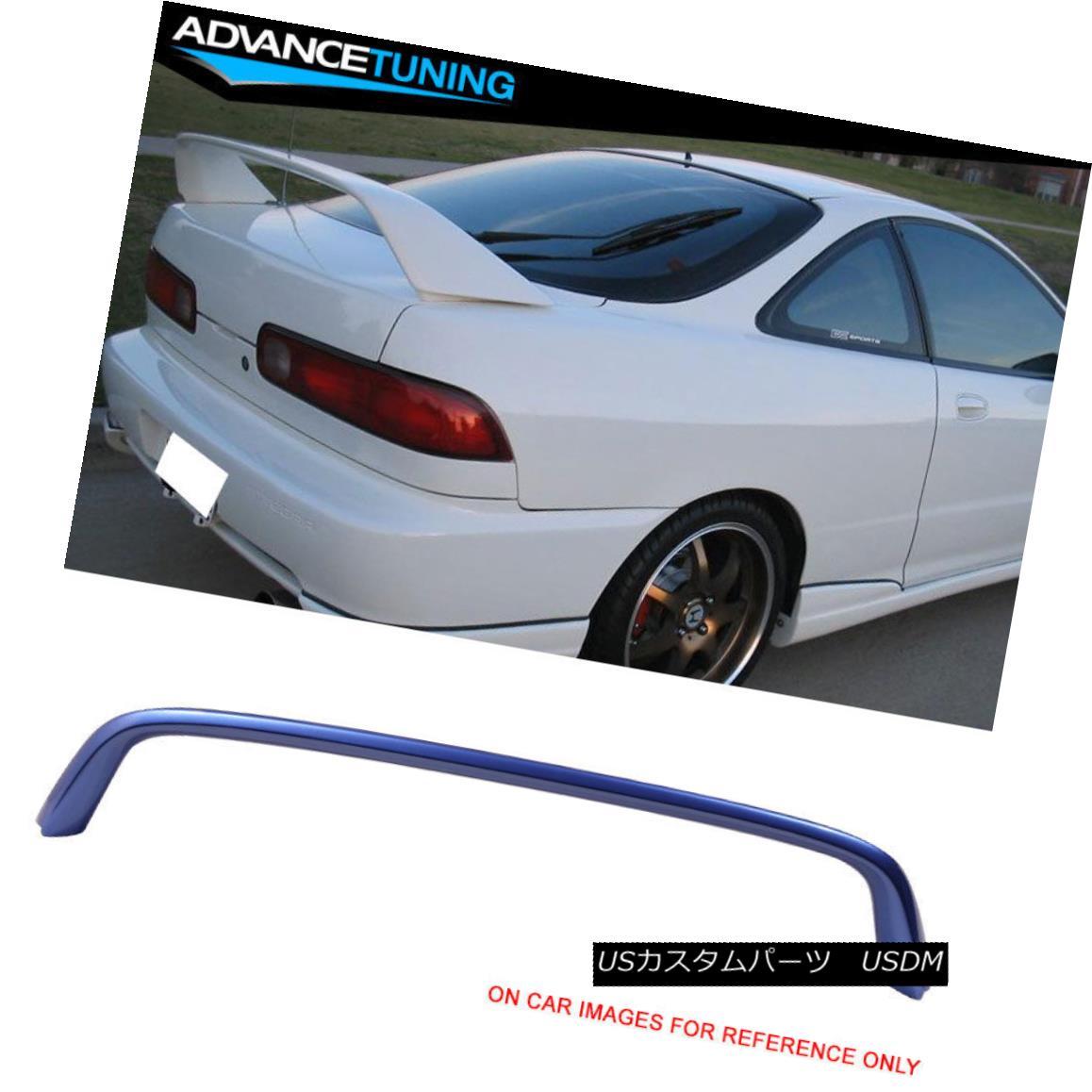 エアロパーツ Fits 94-01 Integra Type R Trunk Spoiler OEM Painted #B97M Voltage Blue Metallic フィット94-01 IntegraタイプRトランク・スポイラーOEM塗装#B97M電圧ブルーメタリック