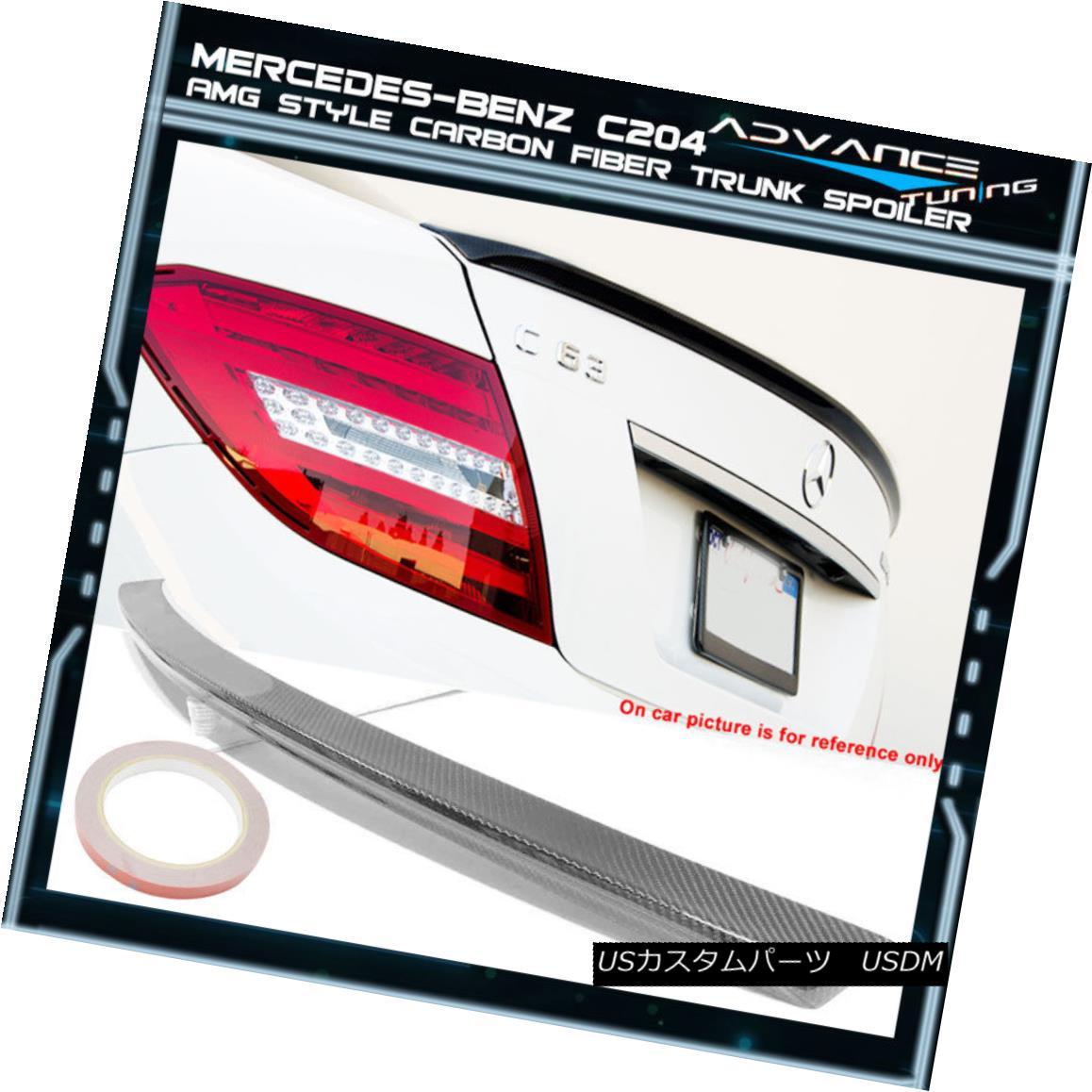 エアロパーツ 12-15 Benz C204 2Dr 2Door AMG Style CF Carbon Fiber Trunk Spoiler 12-15ベンツC204 2Dr 2Door AMGスタイルCFカーボンファイバートランクスポイラー