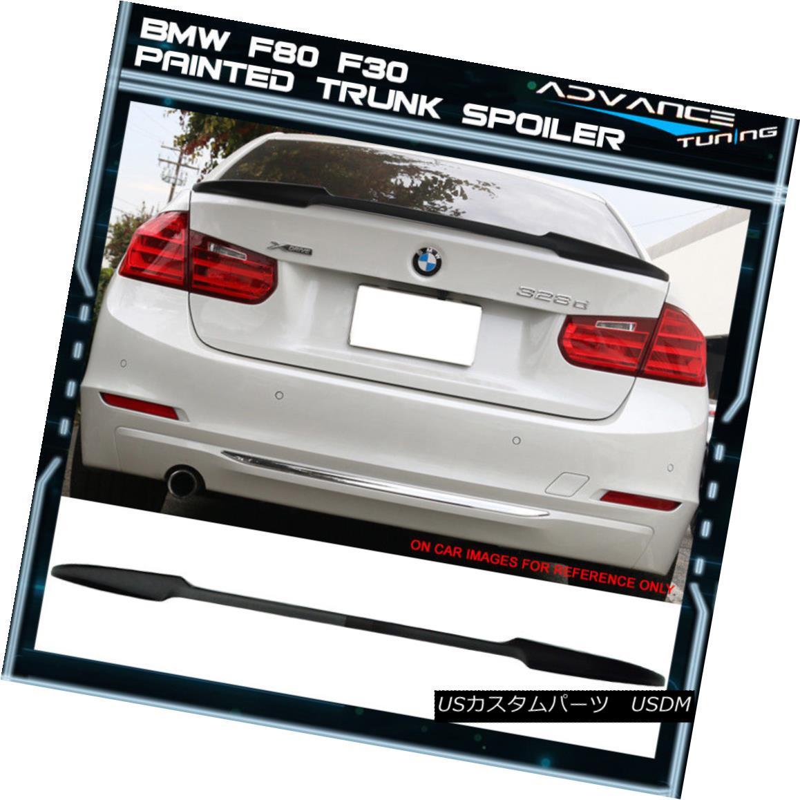 エアロパーツ 12-18 BMW F80 F30 M3 F30 4Dr V Style Trunk Spoiler OEM Painted Jet Black #668 12-18 BMW F80 F30 M3 F30 4Dr VスタイルトランクスポイラーOEM塗装ジェットブラック#668