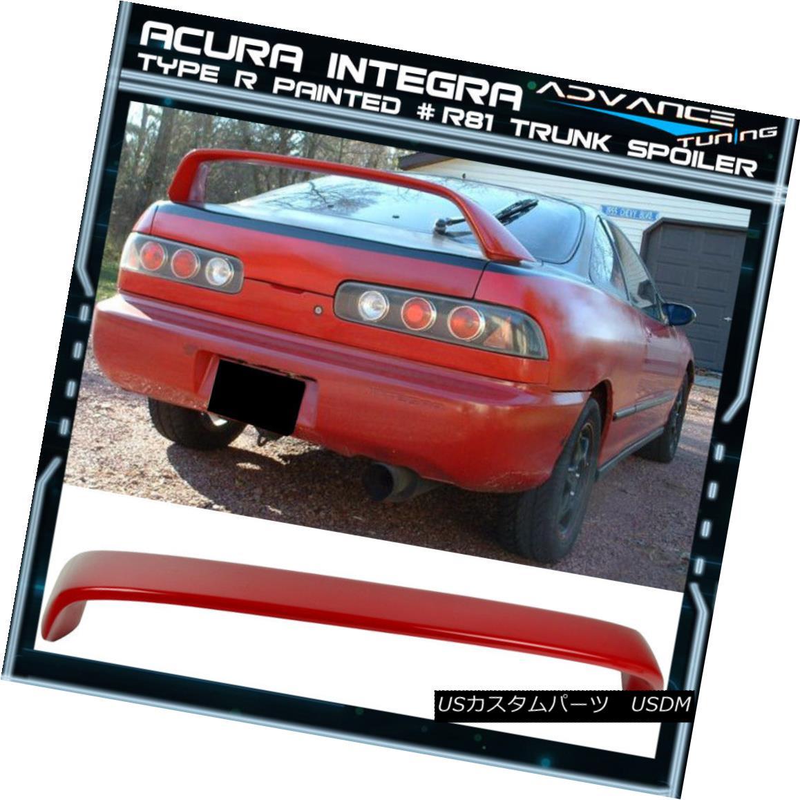 エアロパーツ 94-01 Integra DC2 Type R Painted # R81 Milano Red Trunk Spoiler 94-01 Integra DC2タイプR塗装済み#R81ミラノレッドトランク・スポイラー