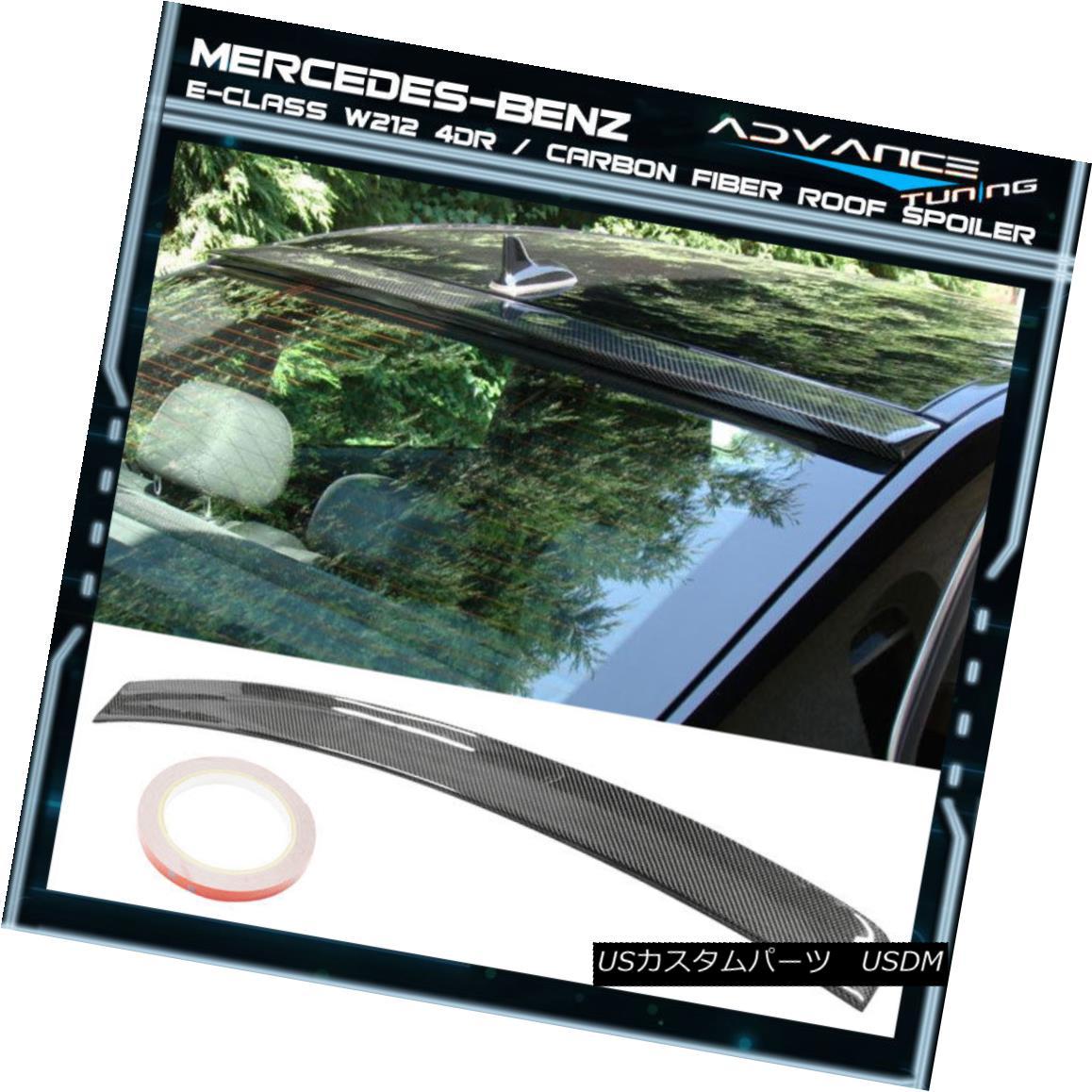 エアロパーツ 10-16 Benz E-Class W212 4Dr OE Style Rear Roof Spoiler Carbon Fiber CF 10-16ベンツEクラスW212 4Dr OEスタイルリアルーフスポイラーカーボンファイバーCF