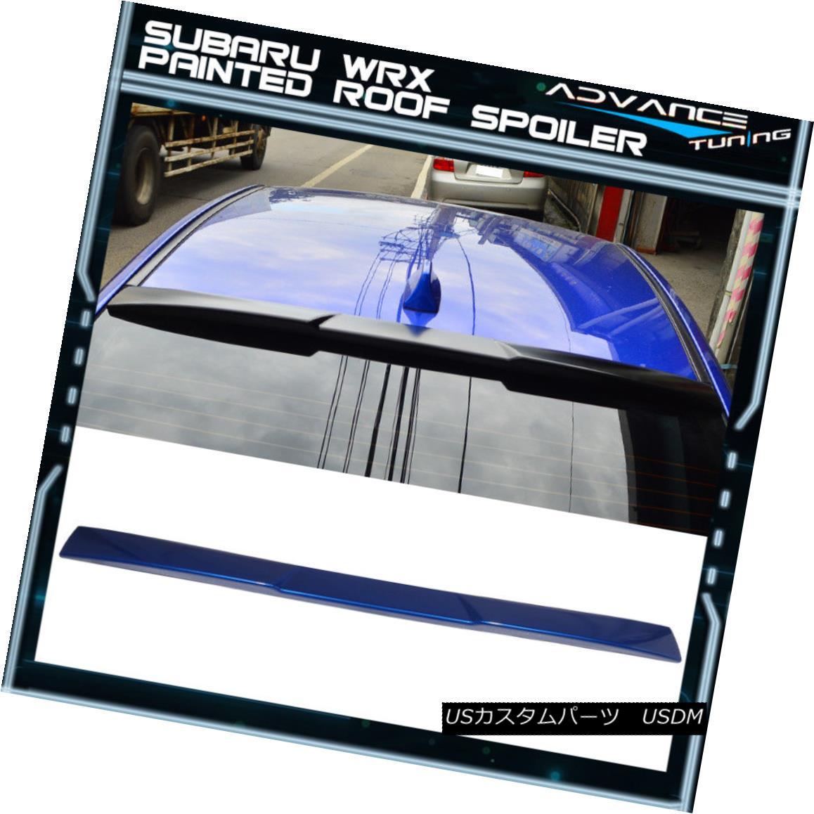 エアロパーツ For 15-18 Impreza WRX STI V Style Roof Spoiler OEM Painted #K7X Wr Blue Pearl 15-18インプレッサWRX STI VスタイルルーフスポイラーOEM塗装#K7X Wrブルーパール