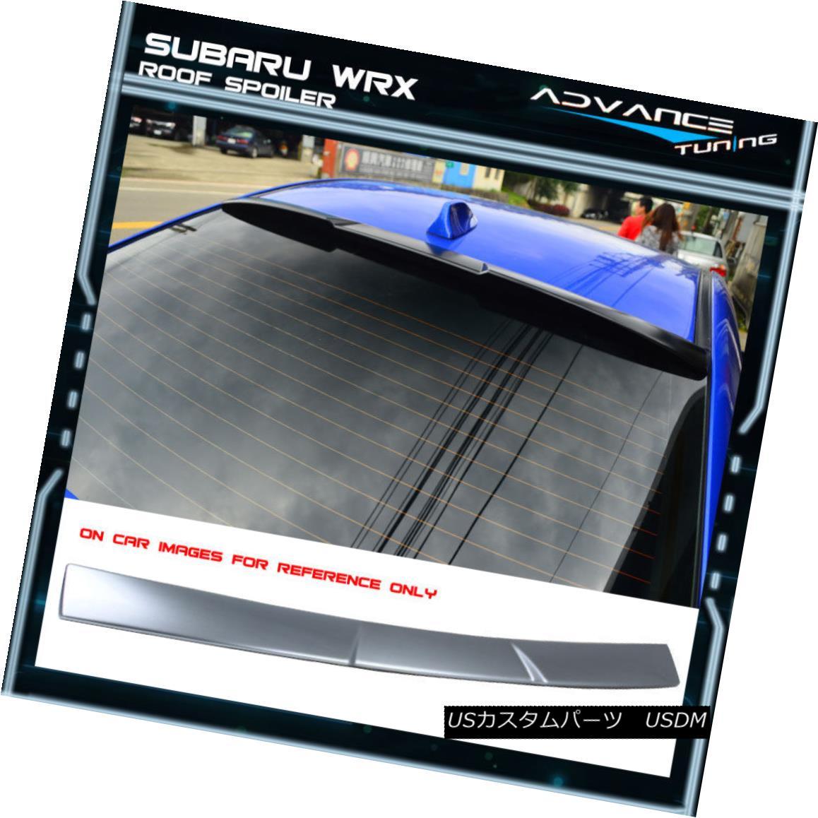 エアロパーツ Fits 15-18 Subaru Impreza WRX STI V Style Painted #G1U Ice Silver Roof Spoiler フィット15-18スバルインプレッサWRX STI Vスタイル#G1Uアイスシルバールーフスポイラー
