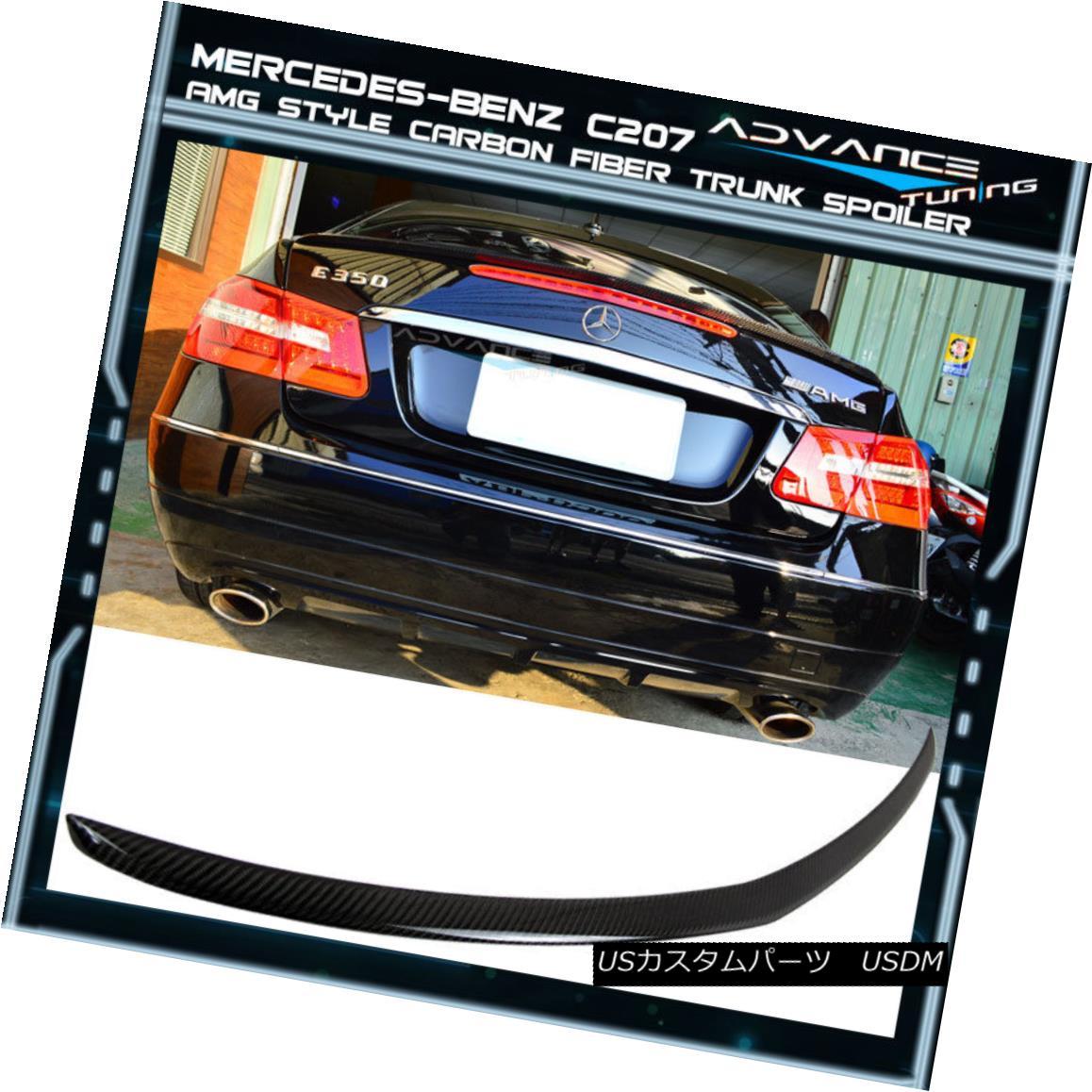 エアロパーツ 10-17 M-BENZ C207 W207 E Class 2Dr Coupe CF Carbon Fiber AMG Type Trunk Spoiler 10-17 M-BENZ C207 W207 Eクラス2DrクーペCF炭素繊維AMGタイプトランク・スポイラー