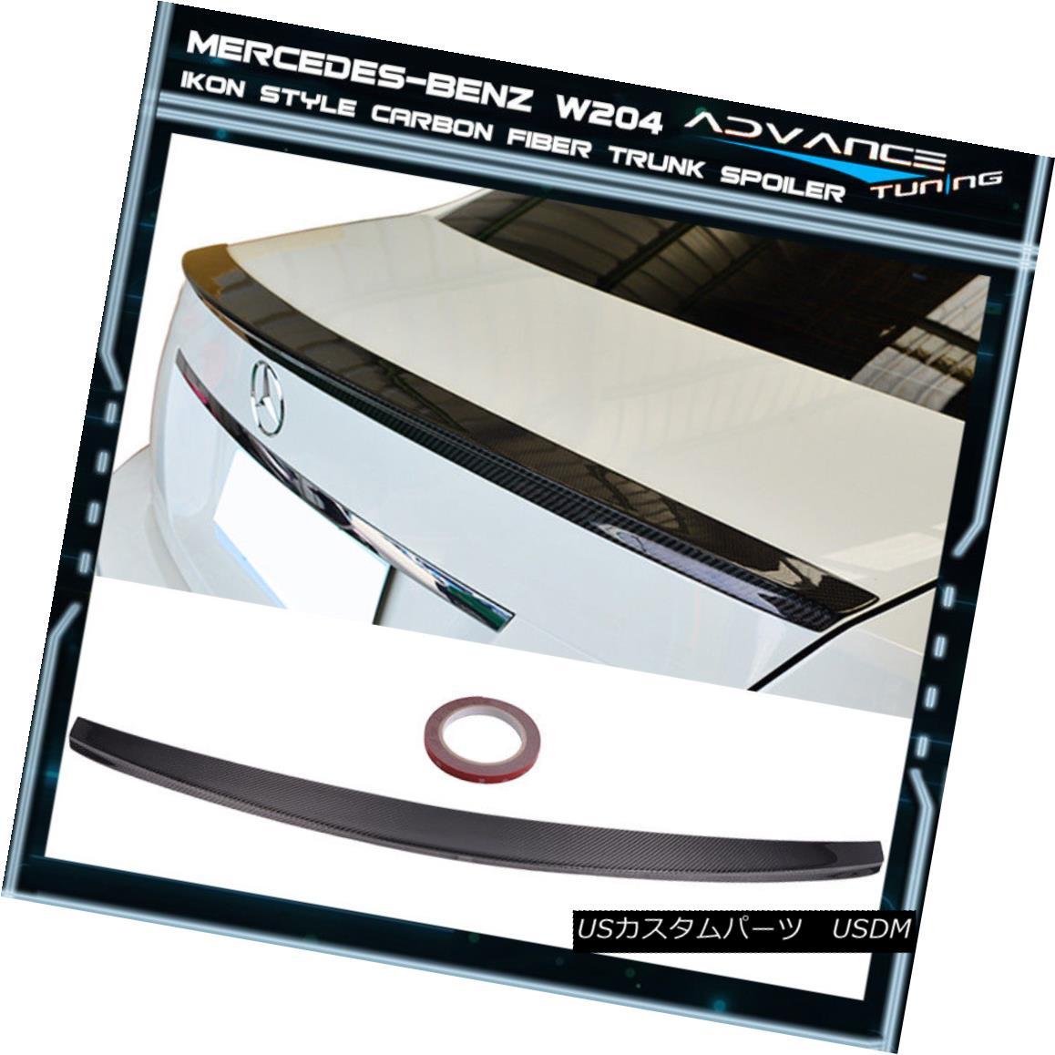 エアロパーツ 08-14 Benz C-Class W204 4Dr Sedan IKON Style Carbon Fiber Trunk Spoiler (CF) 08-14ベンツCクラスW204 4DrセダンIKONスタイルカーボンファイバートランク・スポイラー(CF)