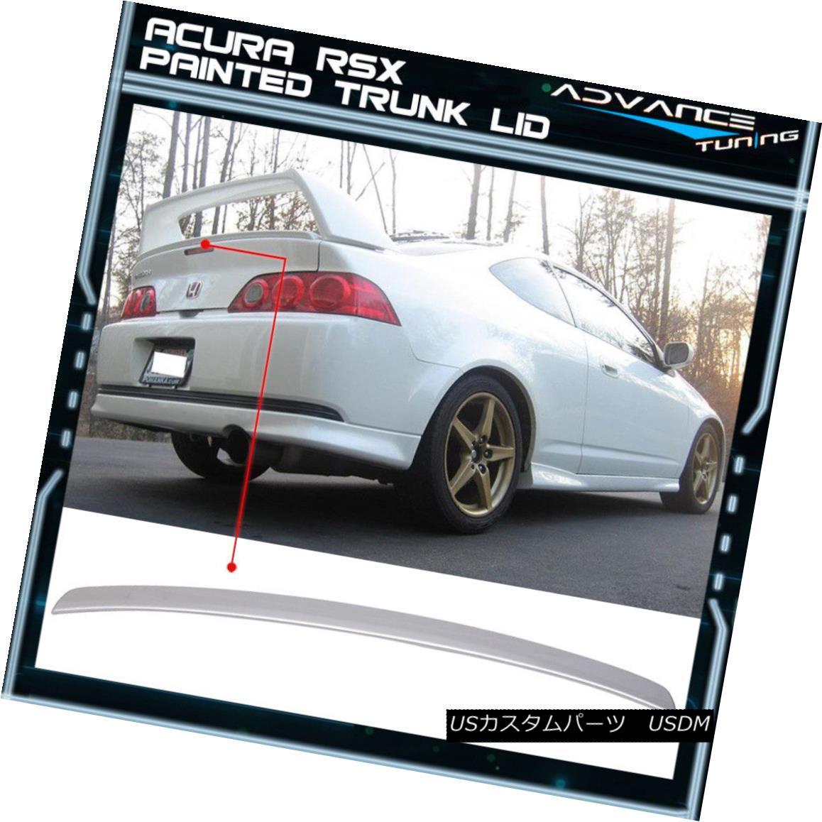 エアロパーツ 02-06 RSX For Type R Trunk Spoiler Painted Satin Silver Metallic #NH623M 02-06 RSX用タイプRトランク・スポイラー塗装サテンシルバーメタリック#NH623M