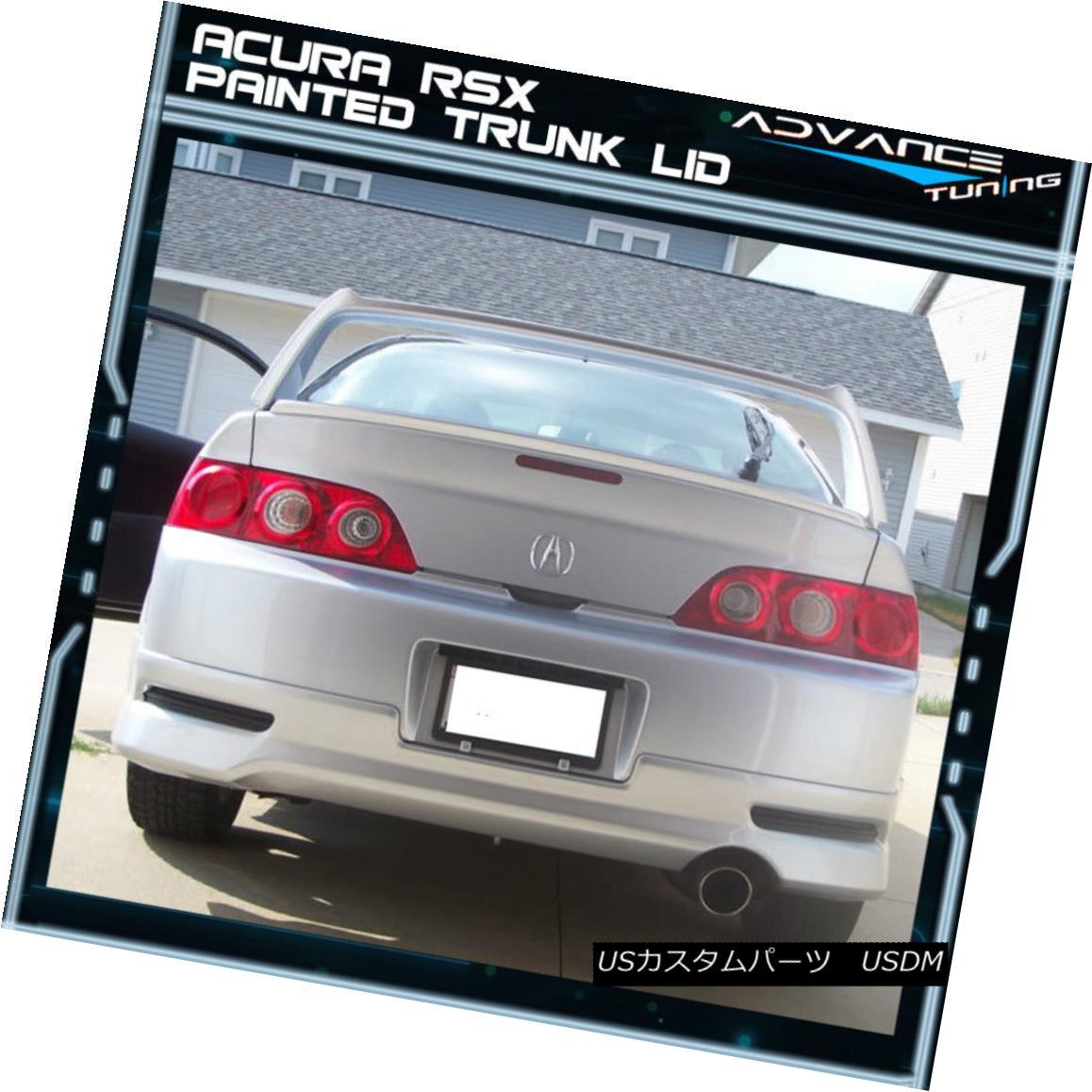 最新な Spoiler Trunk R Type For RSX 02-06 エアロパーツ Painted RSX用
