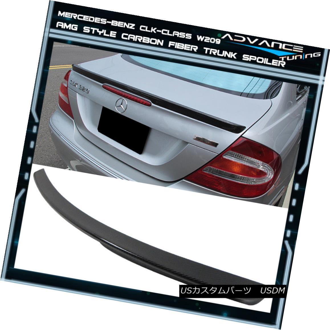 エアロパーツ 03-08 Benz CLK-Class W209 2Dr AMG Style Trunk Spoiler Carbon Fiber CF 03-08ベンツCLKクラスW209 2Dr AMGスタイルトランクスポイラー炭素繊維CF