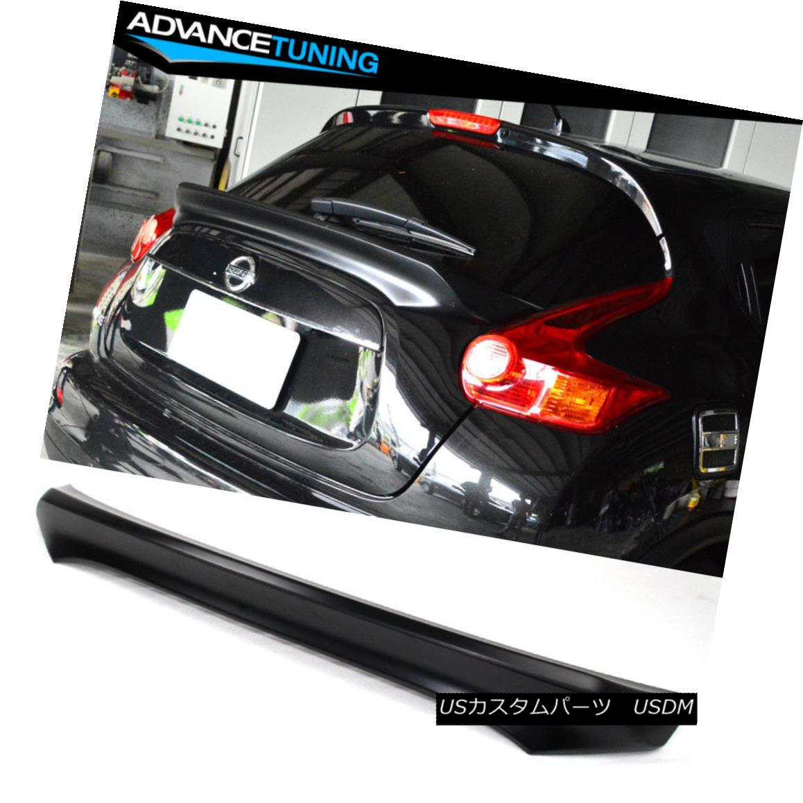 エアロパーツ Fits 15-17 Nissan Juke IKON Style Unpainted Trunk Spoiler - ABS フィット15-17日産ジュークIKONスタイル無塗装トランクスポイラー - ABS