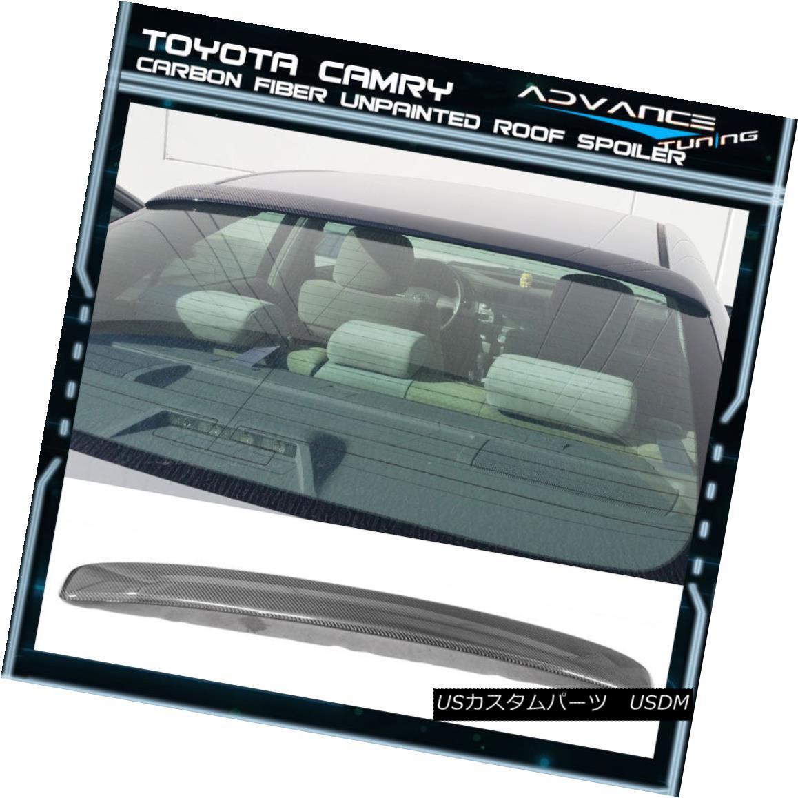 エアロパーツ 07-11 Toyota Camry OE Style Carbon Fiber CF Rear Window Roof Spoiler Wing 07-11トヨタカムリOEスタイル炭素繊維CFリアウィンドウルーフスポイラーウイング