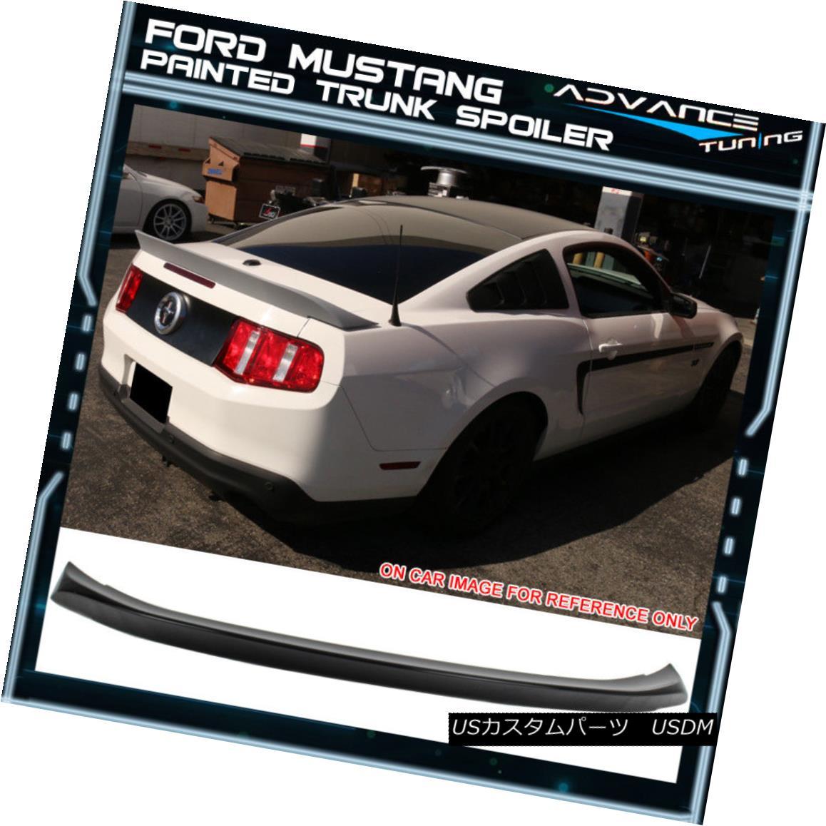 エアロパーツ 10-14 Ford Mustang D Style Trunk Spoiler OEM Painted Color Ebony # UA 10-14フォードマスタングDスタイルのトランク・スポイラーOEM塗装カラーエボニー#UA