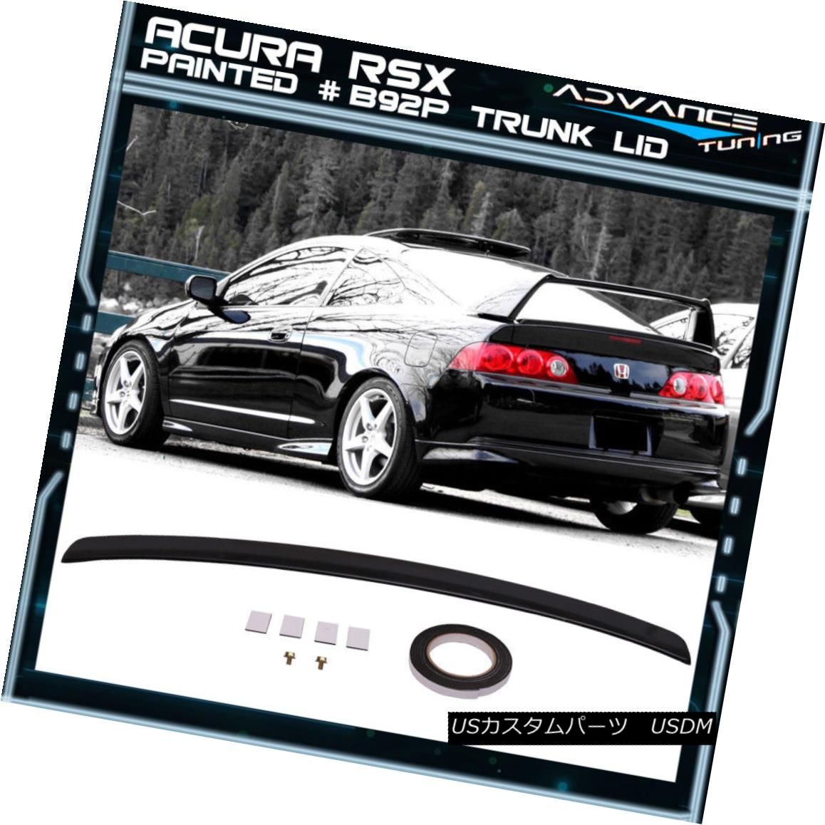 エアロパーツ 02-06 RSX Type R Trunk Spoiler ABS OEM Painted Nightghawk Black Pearl #B92P 02-06 RSXタイプRトランクスポイラーABS OEM塗装ナイトホークブラックパール#B92P