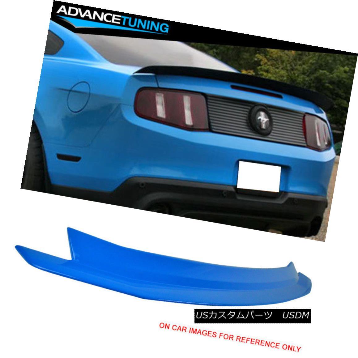エアロパーツ 10-14 Ford Mustang OEM Painted Color Trunk Spoiler # CI Grabber Blue 10-14フォードマスタングOEM塗装カラートランクスポイラー#CIグラバーブルー