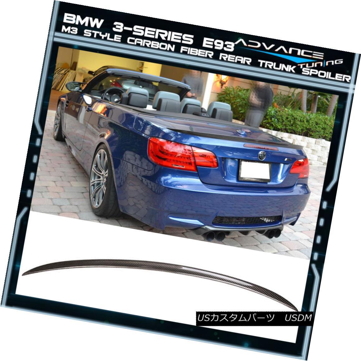 エアロパーツ 07-13 BMW 3-Series E93 Convertible M3 Real Rear Trunk Boot Spoiler Carbon Fiber 07-13 BMW 3シリーズE93コンバーチブルM3リアルリアトランクブートスポイラーカーボンファイバー