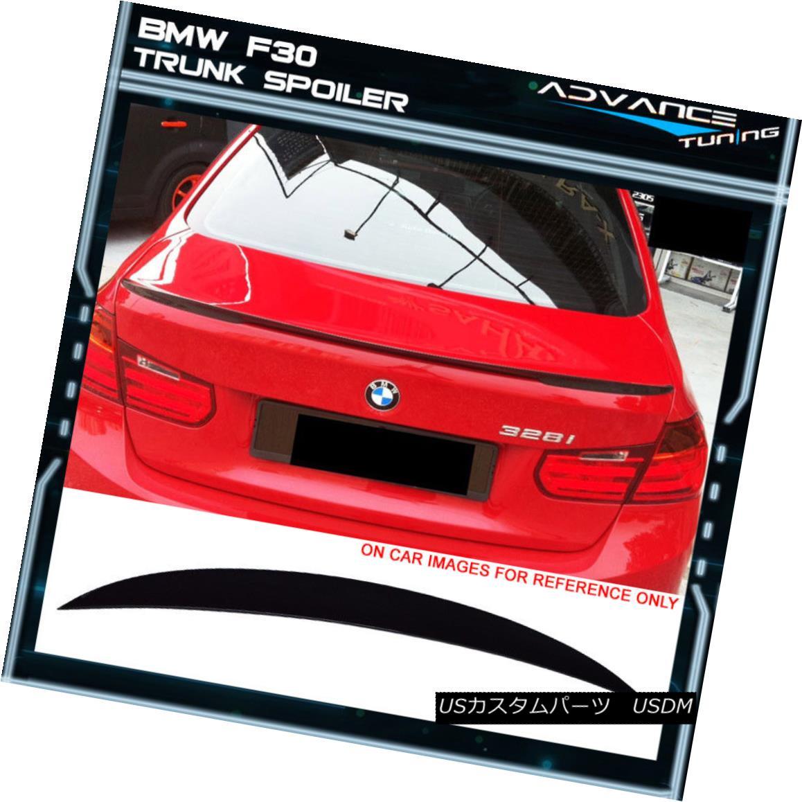 エアロパーツ 12-18 BMW F30 3 Series P Style Painted #668 Jet Black Trunk Spoiler ABS 12-18 BMW F30 3シリーズP塗装#668ジェットブラックトランクスポイラーABS