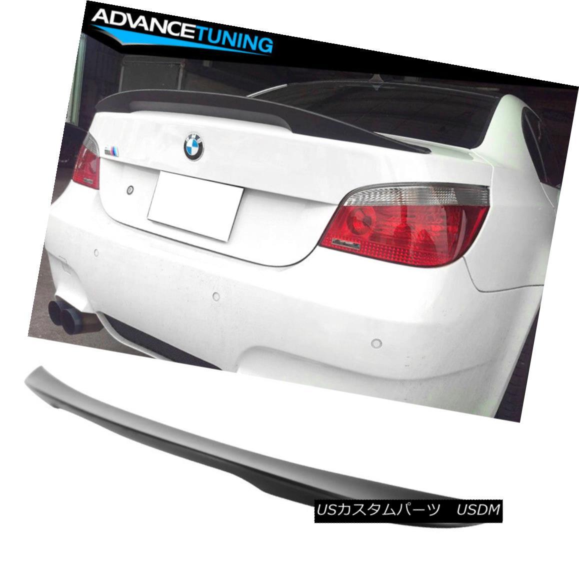 エアロパーツ Fits 04-10 BMW E60 5-Series Sedan High Kick Performance ABS Trunk Spoiler Wing フィット04-10 BMW E60 5シリーズセダンハイキックパフォーマンスABSトランクスポイラーウイング