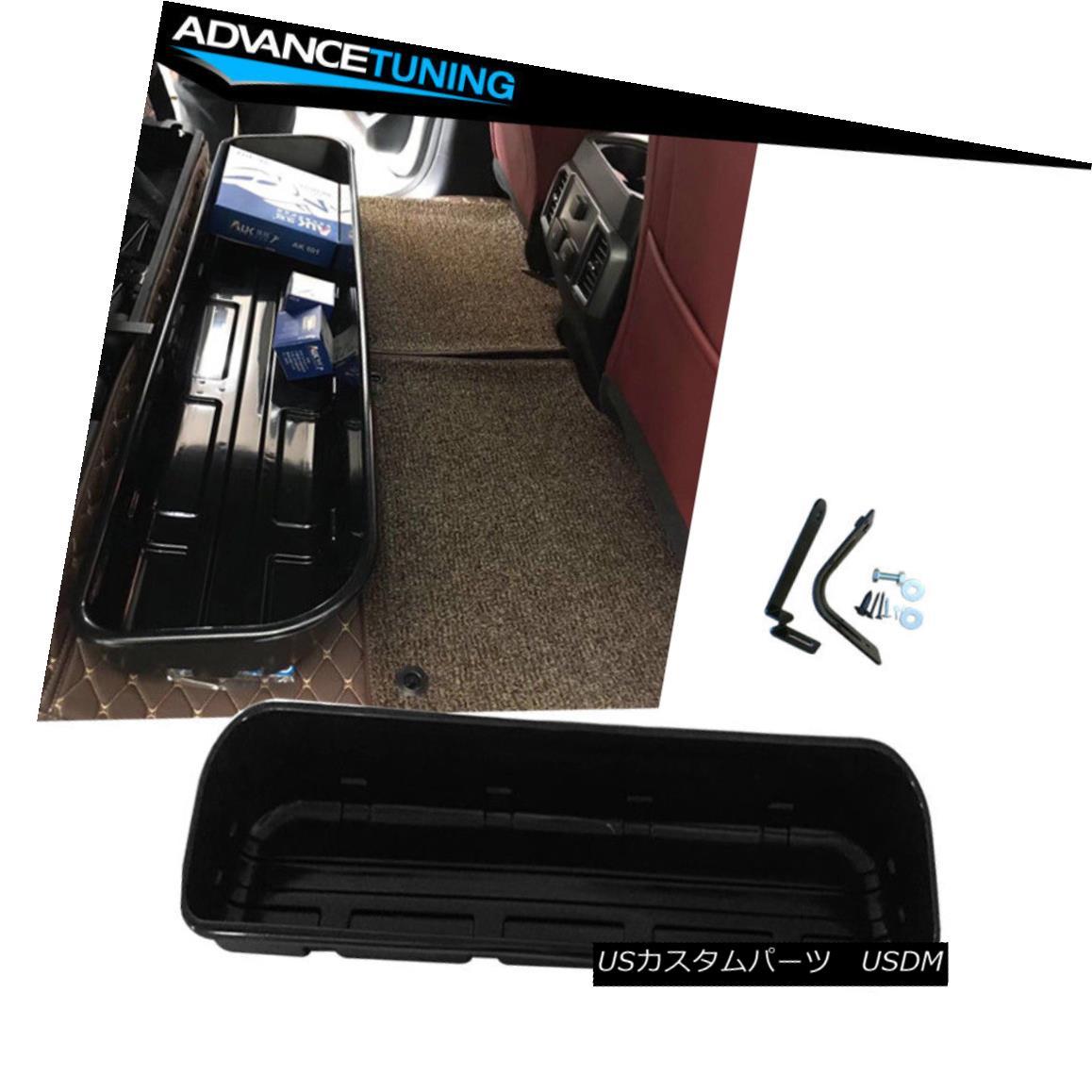 エアロパーツ Fits 15-18 Ford F150 4DR Underseat Storage Box Black フィット15-18フォードF150 4DRアンダーシュートストレージボックスブラック