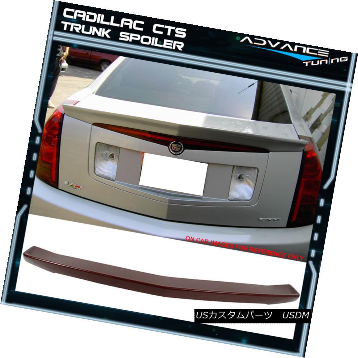 エアロパーツ 03-07 Cadillac CTS 4DR ABS Trunk Spoiler Painted # WA964L Sport Red Tintcoat 03-07キャデラックCTS 4DR ABSトランクスポイラー#WA964Lスポーツレッドティンコート