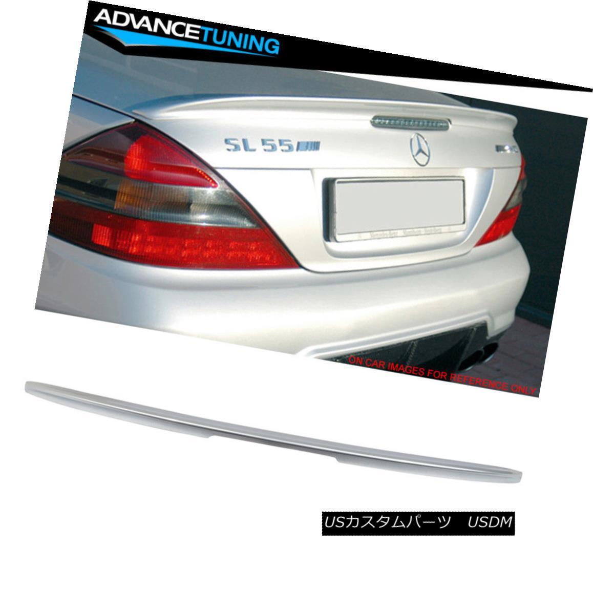 エアロパーツ Fits 03-11 SL R230 AMG Trunk Spoiler OEM Painted #762 Diamond Silver Metallic フィット03-11 SL R230 AMGトランク・スポイラーOEM塗装#762ダイヤモンド・シルバー・メタリック