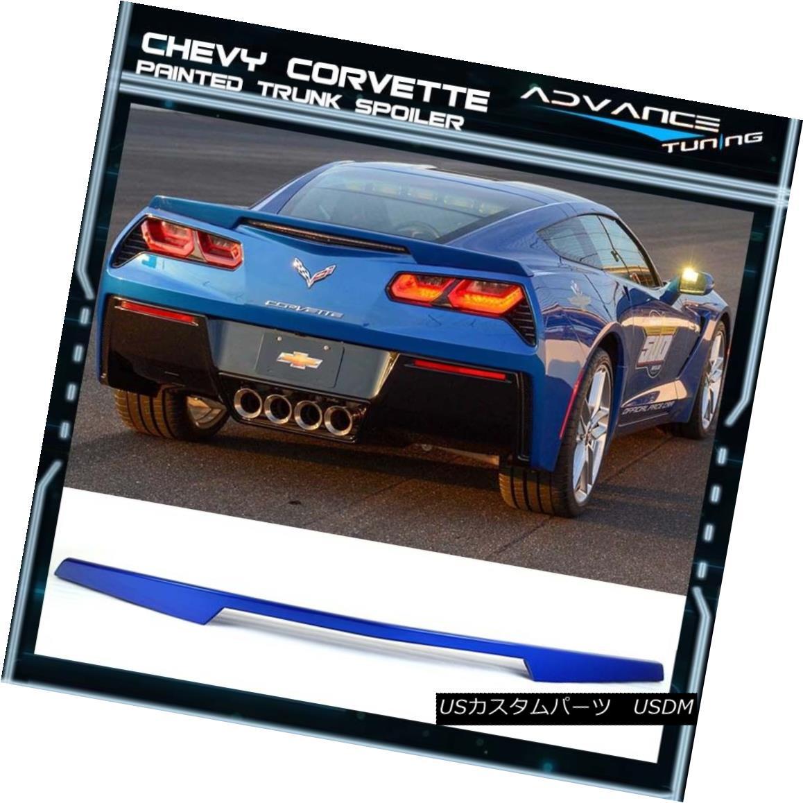 エアロパーツ 14-18 Corvette C7 Trunk Spoiler Painted Blue My Mind Metallic # WA135X 14-18コルベットC7トランク・スポイラー・ペインテッド・ブルー・マイ・マインド・メタリック#WA135X