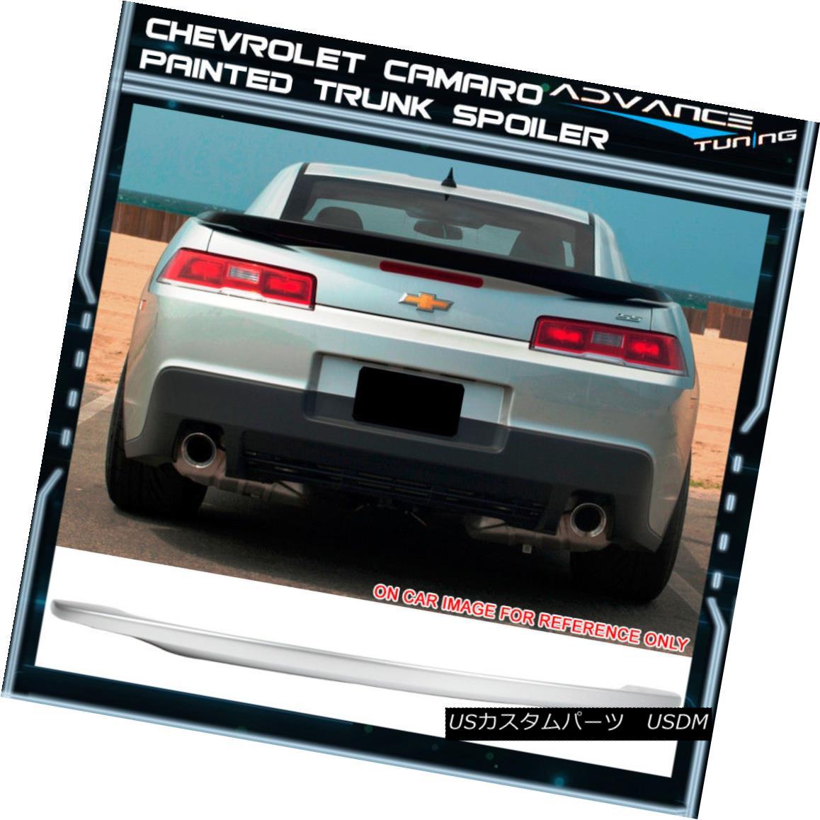 エアロパーツ 14-15 Chevy Camaro OE Style Trunk Spoiler Painted Switchblade Silver Metallic 14-15シボレーカマロOEスタイルのトランク・スポイラー、ペイントされたスイッチブレードシルバー・メタリック