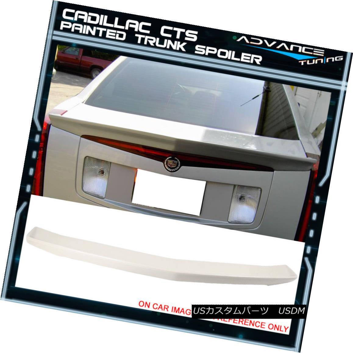 エアロパーツ 03-07 Cadillac CTS Sedan Trunk Spoiler OEM Painted #WA800J White Diamond Pearl 03-07キャデラックCTSセダントランクスポイラーOEM塗装#WA800Jホワイトダイヤモンドパール
