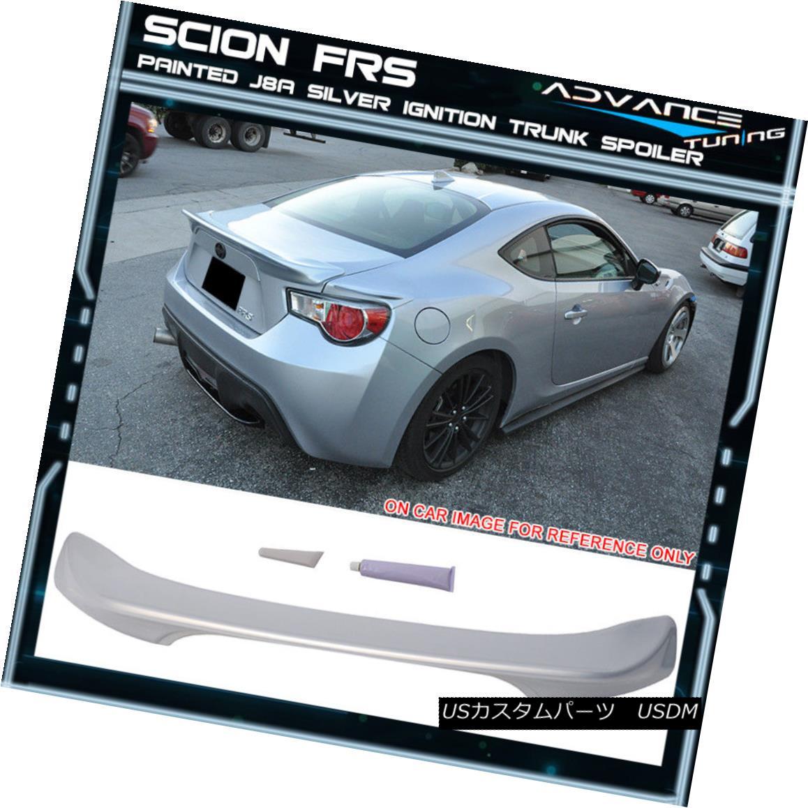 エアロパーツ Fit For 13 Scion FRS Subaru BRZ Trunk Spoiler OE # J8A Silver Ignition 13サイオンFRSスバルBRZトランク・スポイラーOE#J8Aシルバー・イグニッション