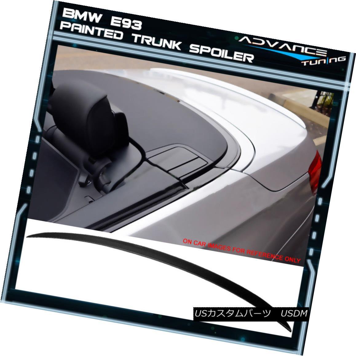 エアロパーツ 07-13 BMW 3-Series E93 Convertible M3 ABS Trunk Spoiler Painted #668 Jet Black 07-13 BMW 3シリーズE93コンバーチブルM3 ABSトランク・スポイラー・ペイント#668ジェット・ブラック