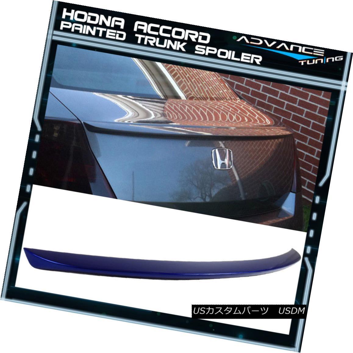 エアロパーツ 08-12 Accord Coupe OE Trunk Spoiler Painted OEM Painted #B551P Belize Blue Pearl 08-12アコードクーペOEトランクスポイラー塗装OEM塗装#B551Pベリーズブルーパール