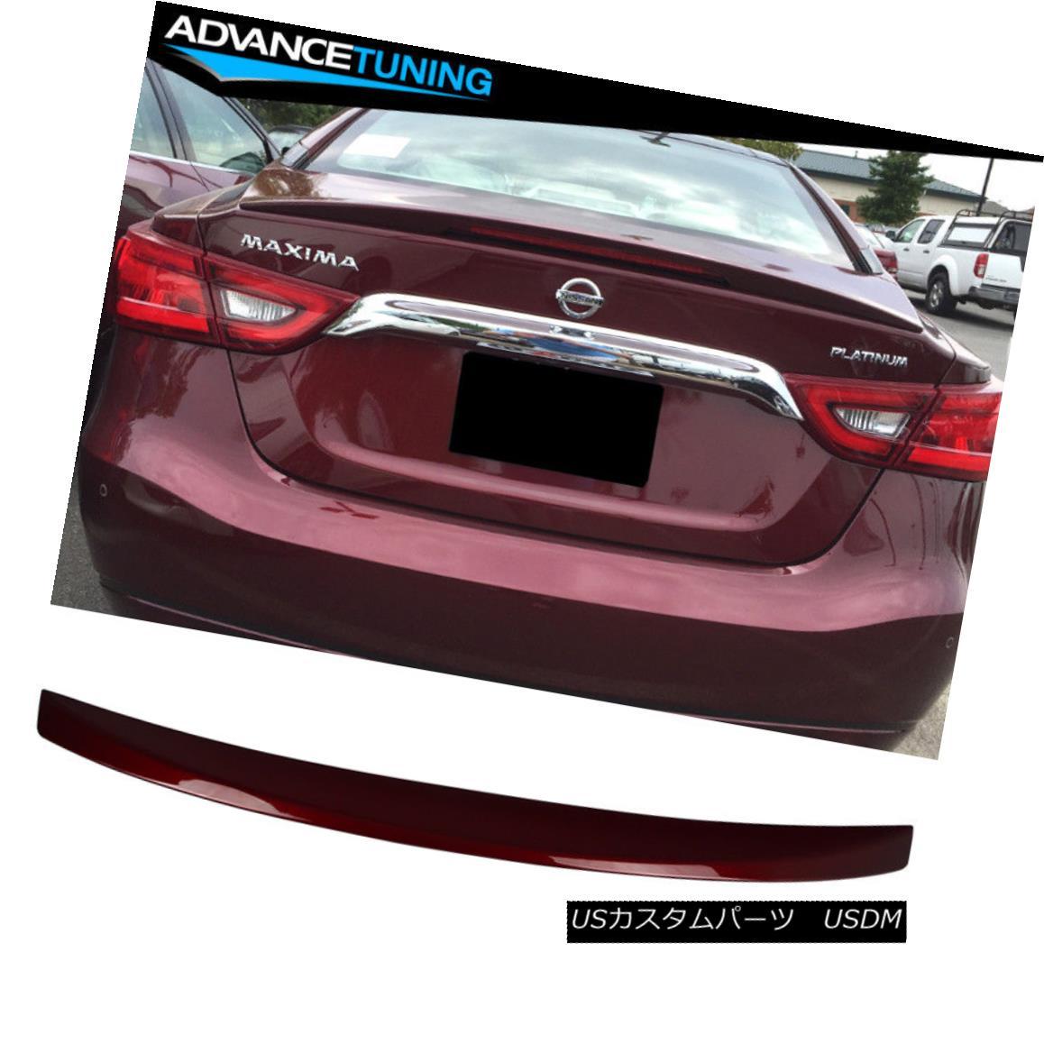 エアロパーツ Fits 16-18 Maxima OE ABS Trunk Spoiler OEM Painted Color Coulis Red # NAW フィット16-18マキシマOE ABSトランクスポイラーOEM塗装色Coulis赤#NAW
