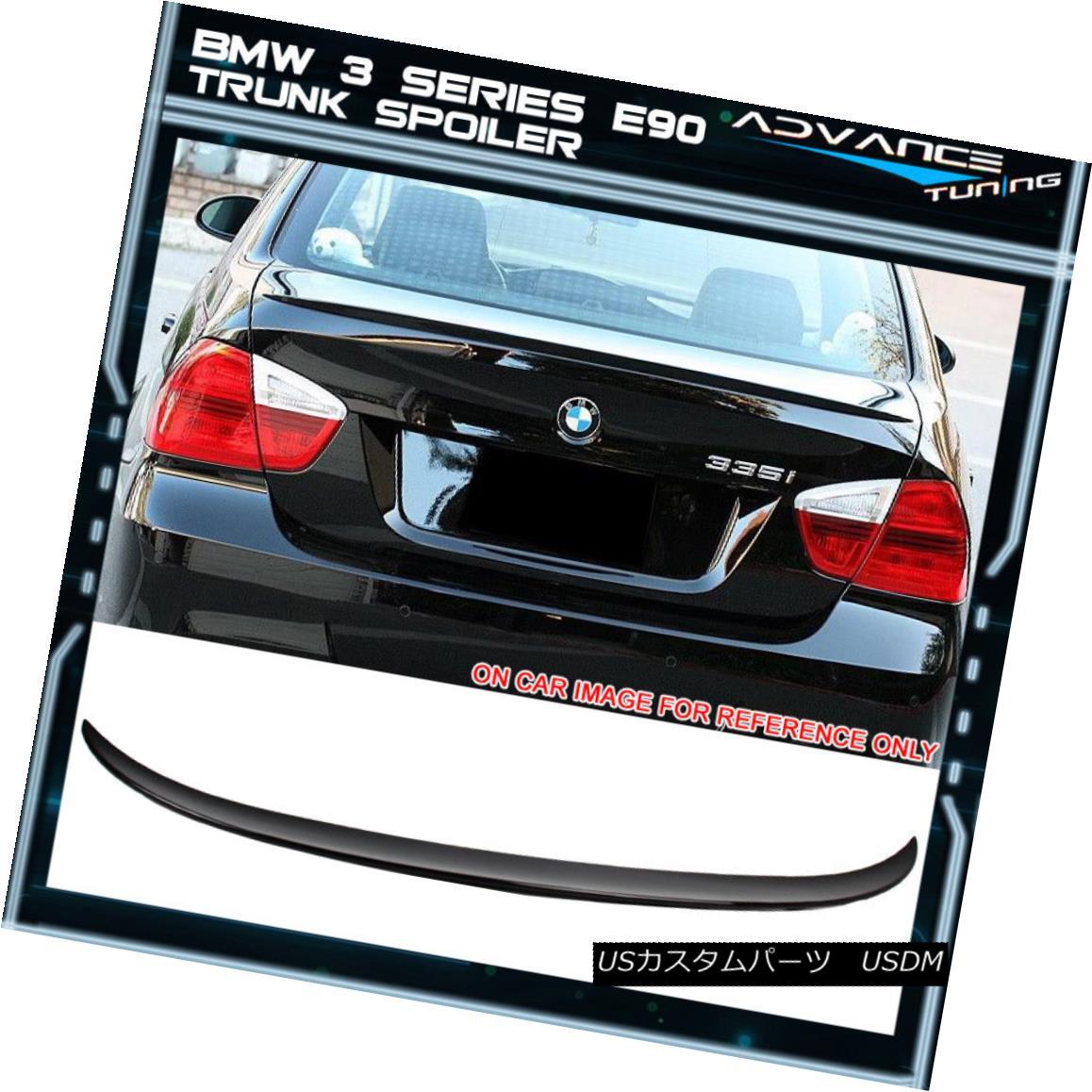 エアロパーツ 06-11 BMW 3 Series E90 Rear Trunk Spoiler Painted Black Sapphire Metallic - ABS 06-11 BMW 3シリーズE90リアトランク・スポイラー、ブラック・サファイア・メタリック塗装