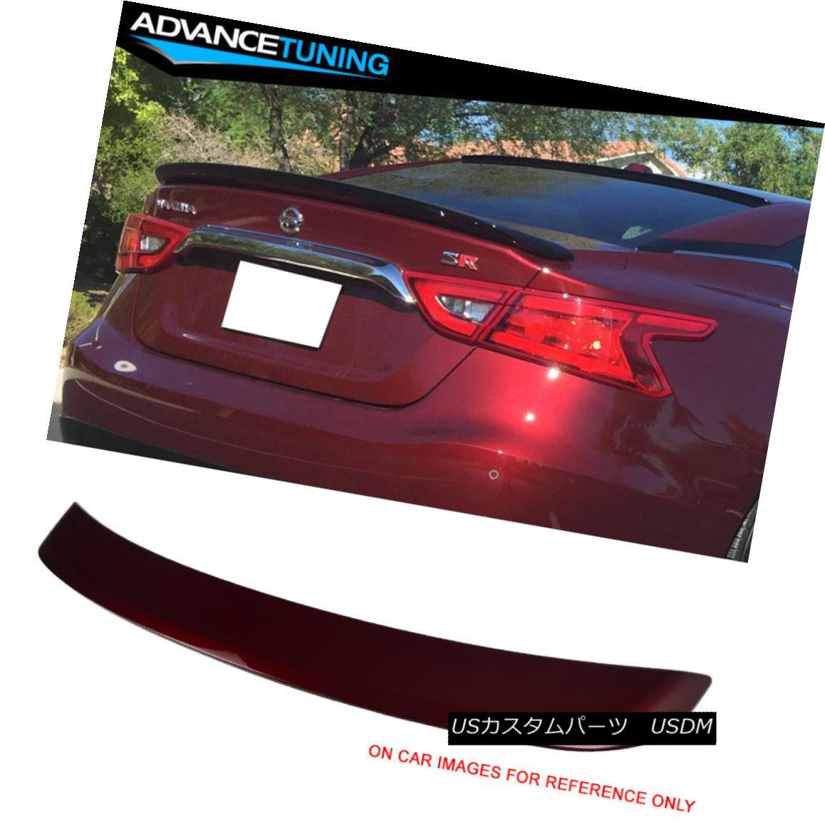 エアロパーツ Fits 16-18 Maxima OE2 Trunk Spoiler OEM Painted Color Coulis Red # NAW フィット16-18マキシマOE2トランク・スポイラーOEM塗装カラーCoulis Red#NAW