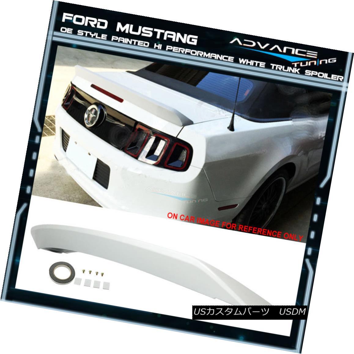 エアロパーツ 05-09 Mustang OE Style OEM Painted Color # HP Hi P Style White Trunk Spoiler 05-09マスタングOEスタイルOEM塗装カラー#HP Hi Pスタイルホワイトトランク・スポイラー