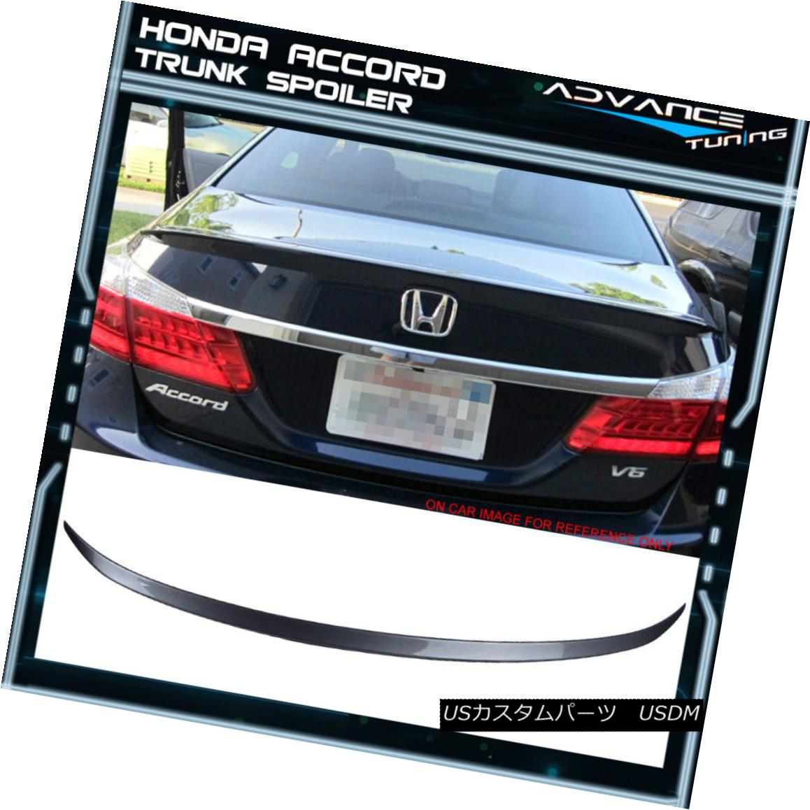エアロパーツ 13-16 Honda Accord 9TH OE Painted #NH797M Modern Steel Metallic Trunk Spoiler 13-16 Honda Accord 9TH OE塗装済み#NH797Mモダンスチールメタリックトランクスポイラー