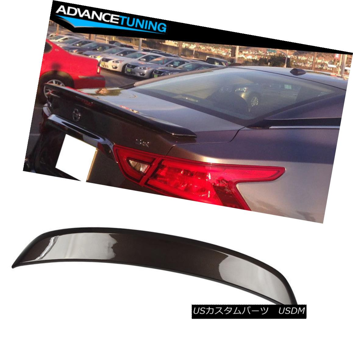 エアロパーツ Fits 16-18 Maxima OE2 Trunk Spoiler OEM Painted Color Forqed Bronze Metallic#CAT フィット16-18マキシマOE2トランク・スポイラーOEM塗装カラーForqed Bronze Metallic#CAT