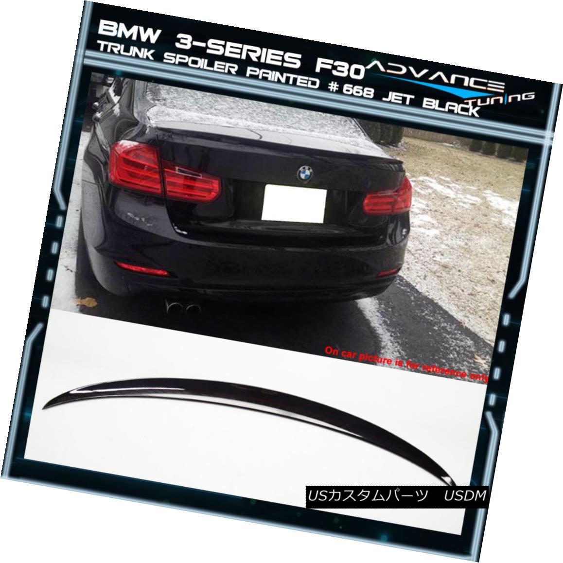 エアロパーツ 12-18 BMW 3-Series F30 4Dr Trunk Spoiler OEM Painted Color # 668 Jet Black 12-18 BMW 3シリーズF30 4Drトランク・スポイラーOEM塗装カラー#668ジェット・ブラック