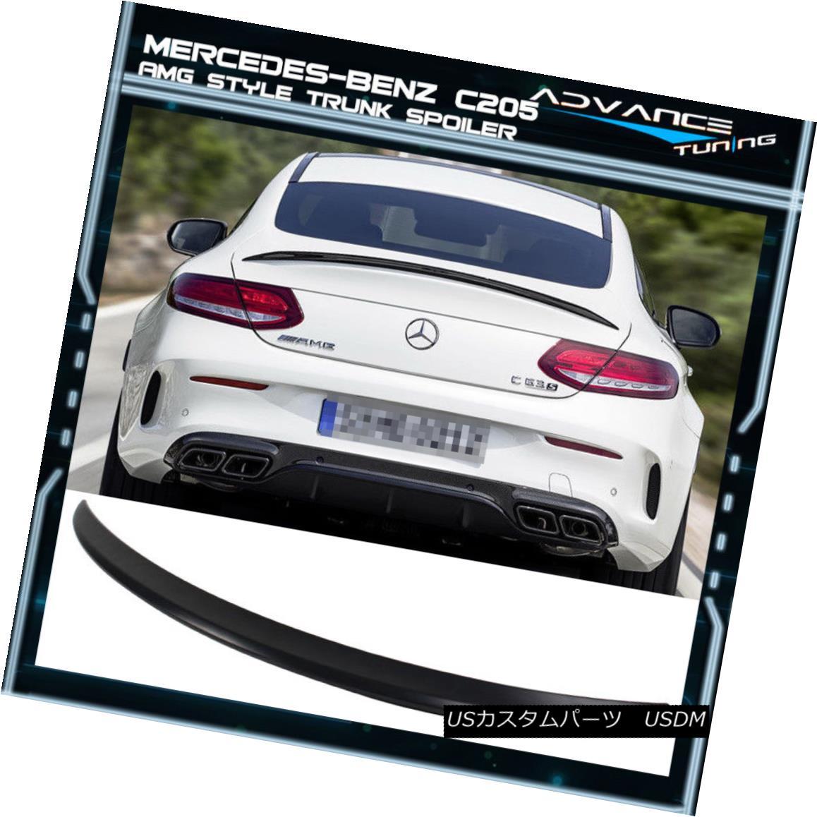 エアロパーツ 15 16 17 Benz C-Class C205 W205 2Dr Coupe AMG Style Trunk Spoiler - ABS 15 16 17ベンツCクラスC205 W205 2DrクーペAMGスタイルトランクスポイラー - ABS