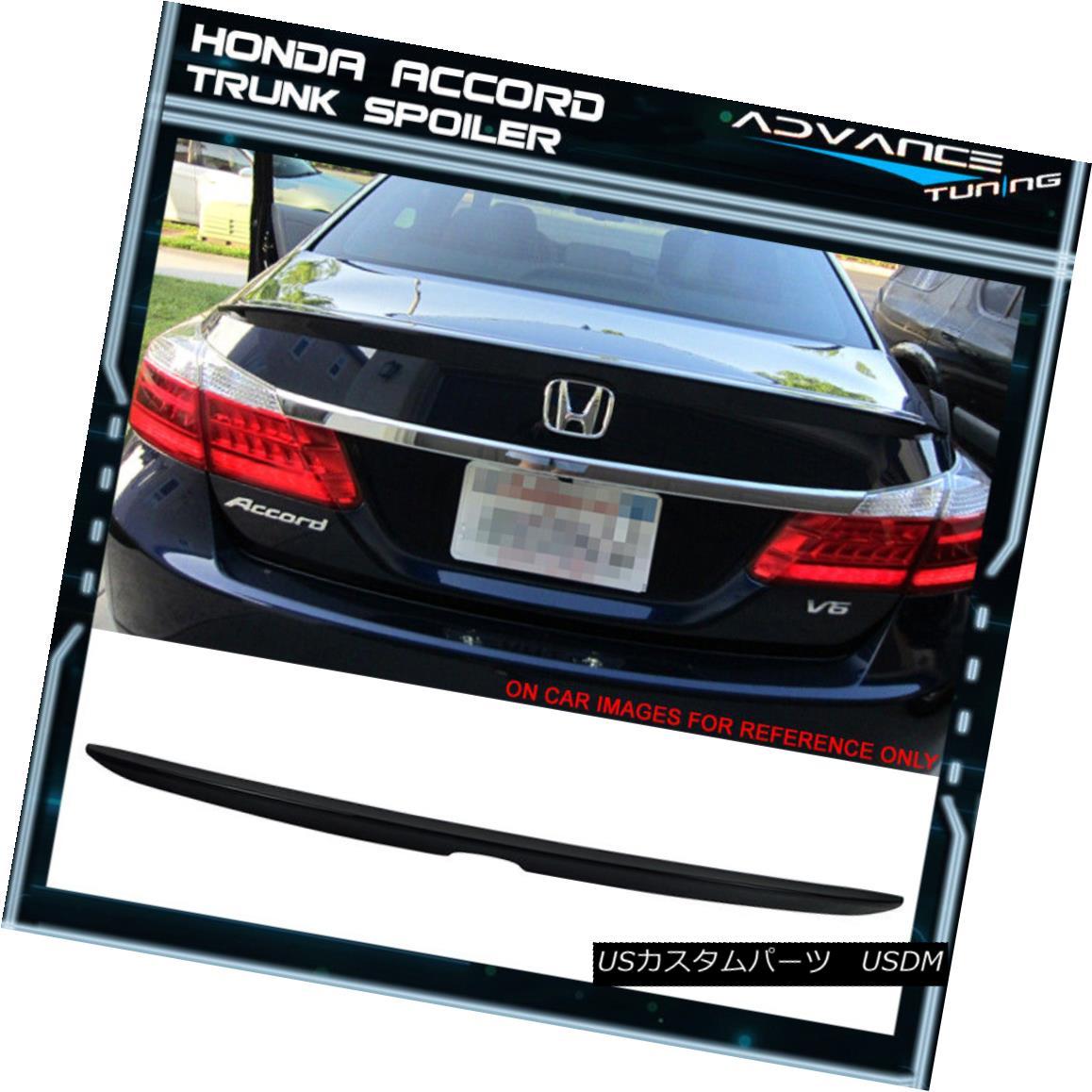 エアロパーツ For 13-16 Accord OE Style Trunk Spoiler Painted #NH731P Crystal Black Pearl 13-16アコード用OEスタイルトランク・スポイラー#NH731Pクリスタル・ブラック・パール