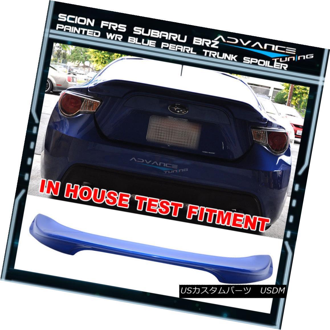 エアロパーツ Fit For 15-17 Subaru BRZ Trunk Spoiler OE Painted World Blue Pearl # K7X 15-17スバルBRZトランク・スポイラーOEペイント・ワールド・ブルー・パール#K7X用