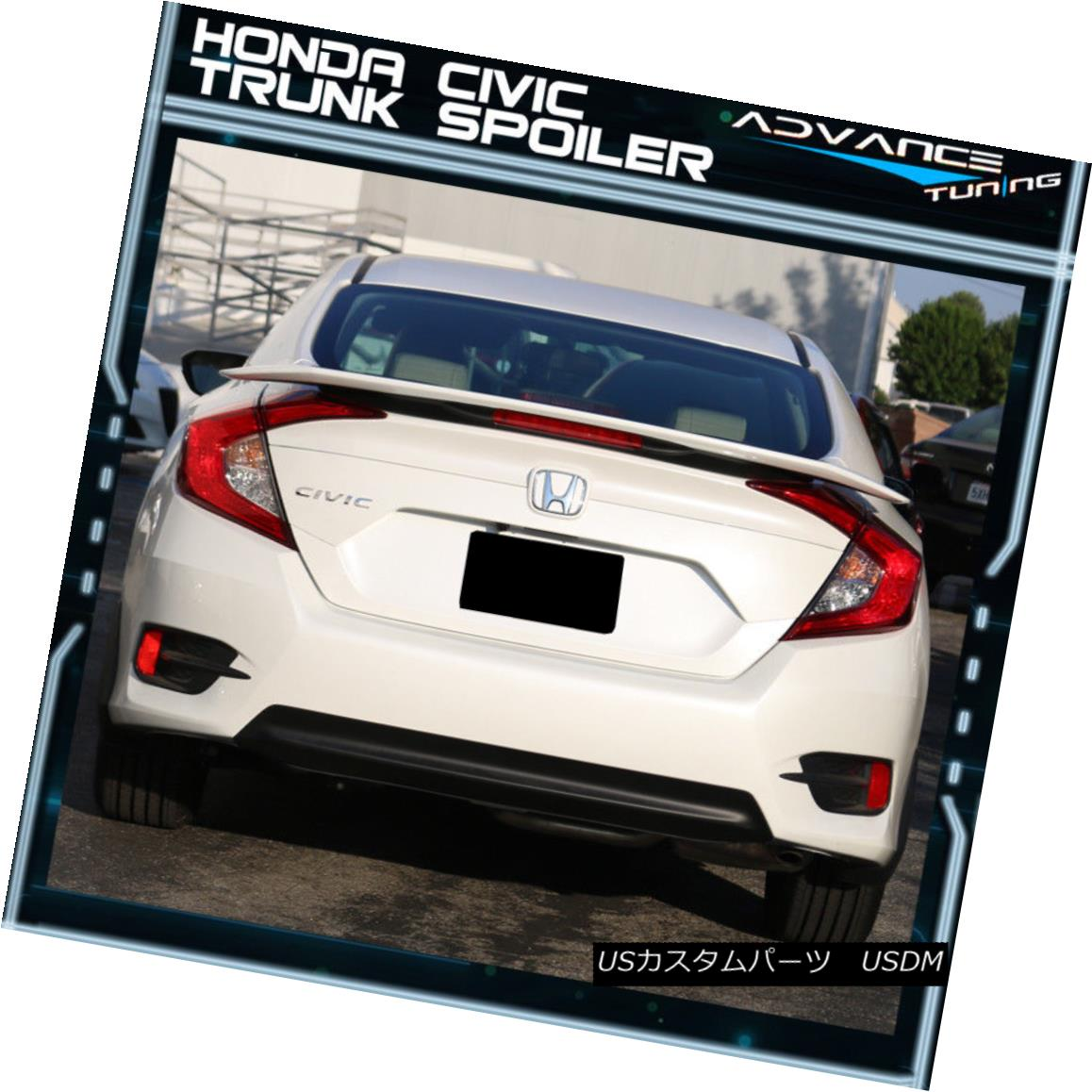 Fits 16-18 Honda Civic 10th X 4DR Sedan Type R Unpainted ABS Trunk Wing Spoiler