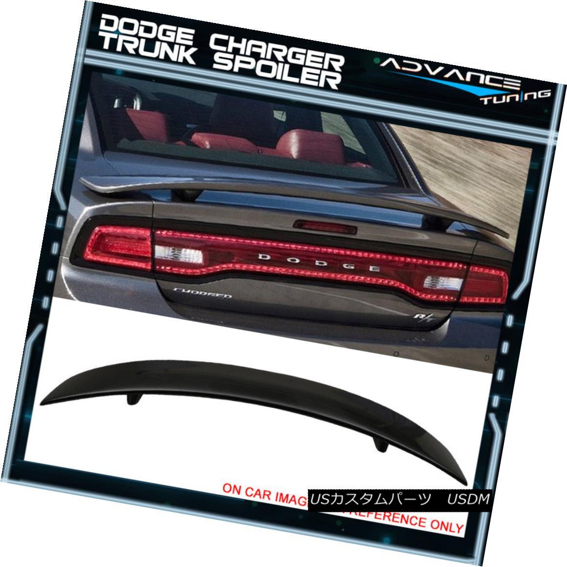 エアロパーツ Fits 11-18 Dodge Charger SRT Rear Trunk Spoiler Wing ABS Painted # PX8 Black 11-18 Dodge Charger SRTリアトランクスポイラーウィングABS塗装#PX8ブラック