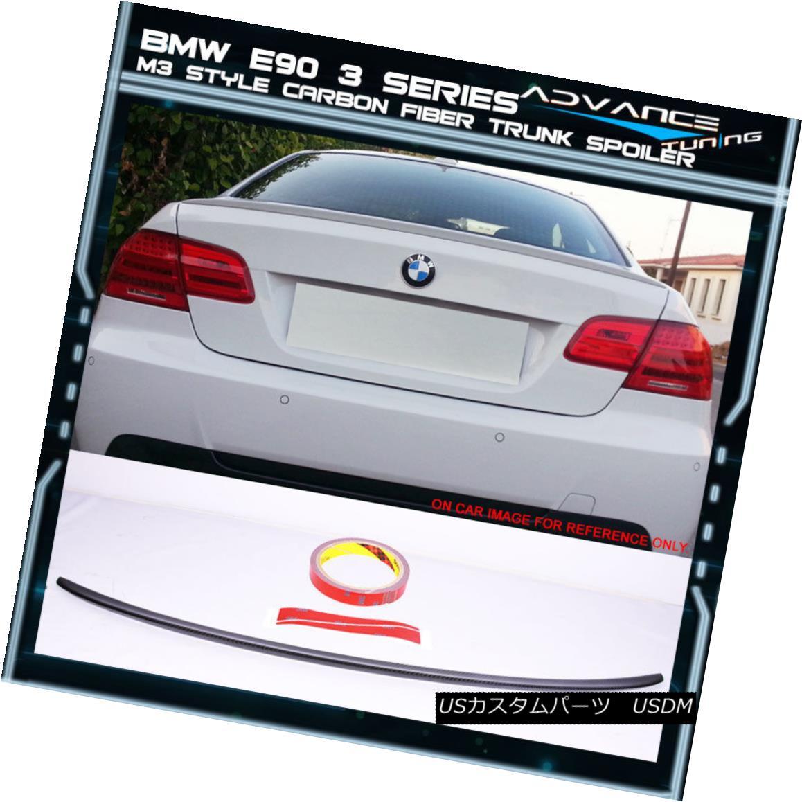 エアロパーツ 07-13 BMW 3 Series E92 M3 Style Carbon Fiber CF Trunk Spoiler 07-13 BMW 3シリーズE92 M3スタイル炭素繊維CFトランク・スポイラー