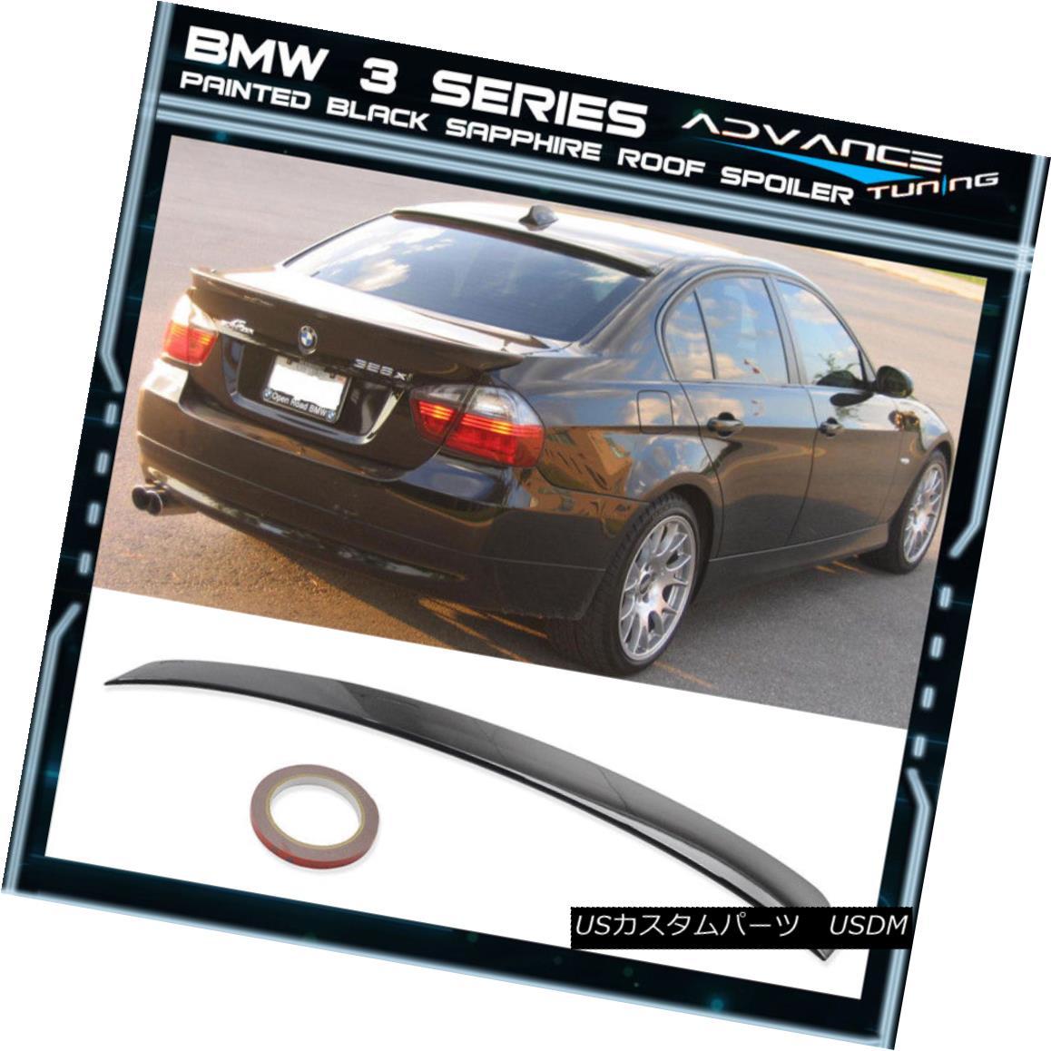 エアロパーツ 06-11 BMW 3 Series Roof Spoiler OEM Painted Color Black Sapphire Metallic #475 06-11 BMW 3シリーズルーフスポイラーOEM塗装カラーブラックサファイヤーメタリック#475