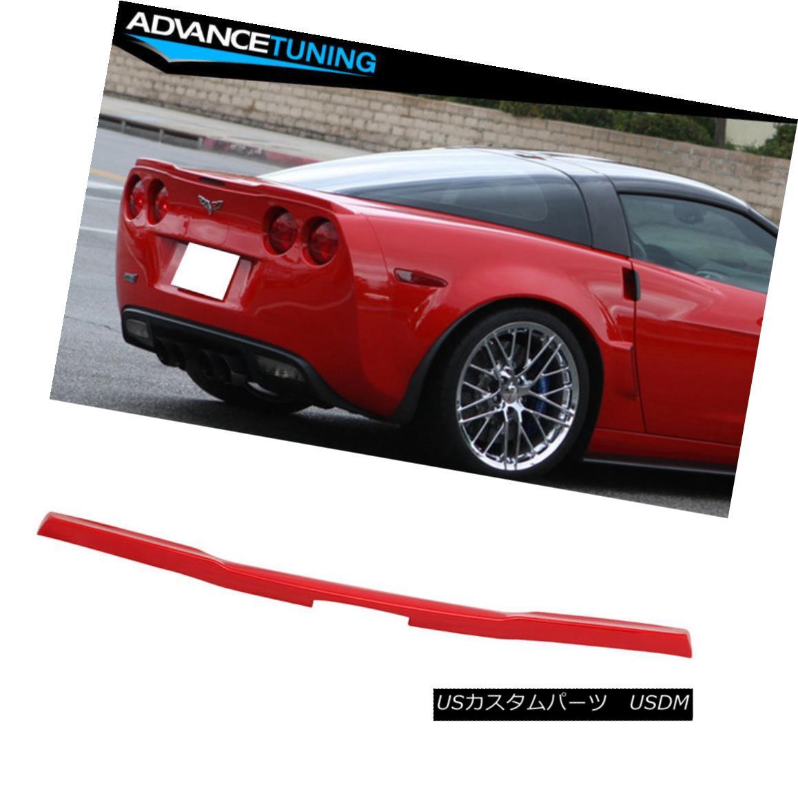 エアロパーツ Fits 05-13 Corvette C6 OE Factory Trunk Spoiler OEM Painted Torch Red #WA9075 適合05-13コルベットC6 OE工場のトランク・スポイラーOEM塗装トーチレッド#WA9075