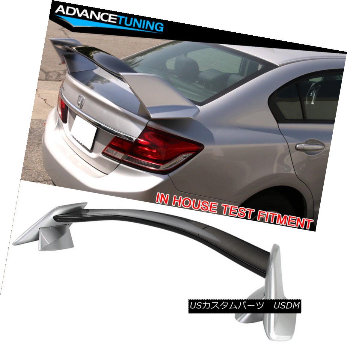 エアロパーツ Fits 12-15 Civic Type R Trunk Spoiler OEM Painted #700 Alabaster Silver Metallic 12-15シビックタイプRのトランク・スポイラーOEM塗装#700アラバスターシルバーメタリックに適合
