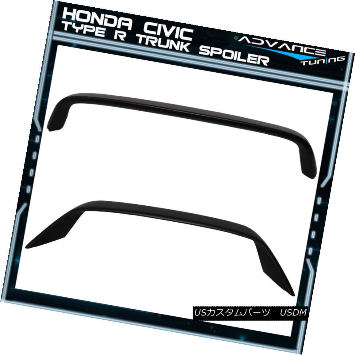 エアロパーツ 01-05 Honda 7th Civic Coupe 2Dr EM Type R Rear Trunk Spoiler Wing - ABS 01-05ホンダ7thシビッククーペ2Dr EMタイプRリアトランク・スポイラー・ウィング - ABS
