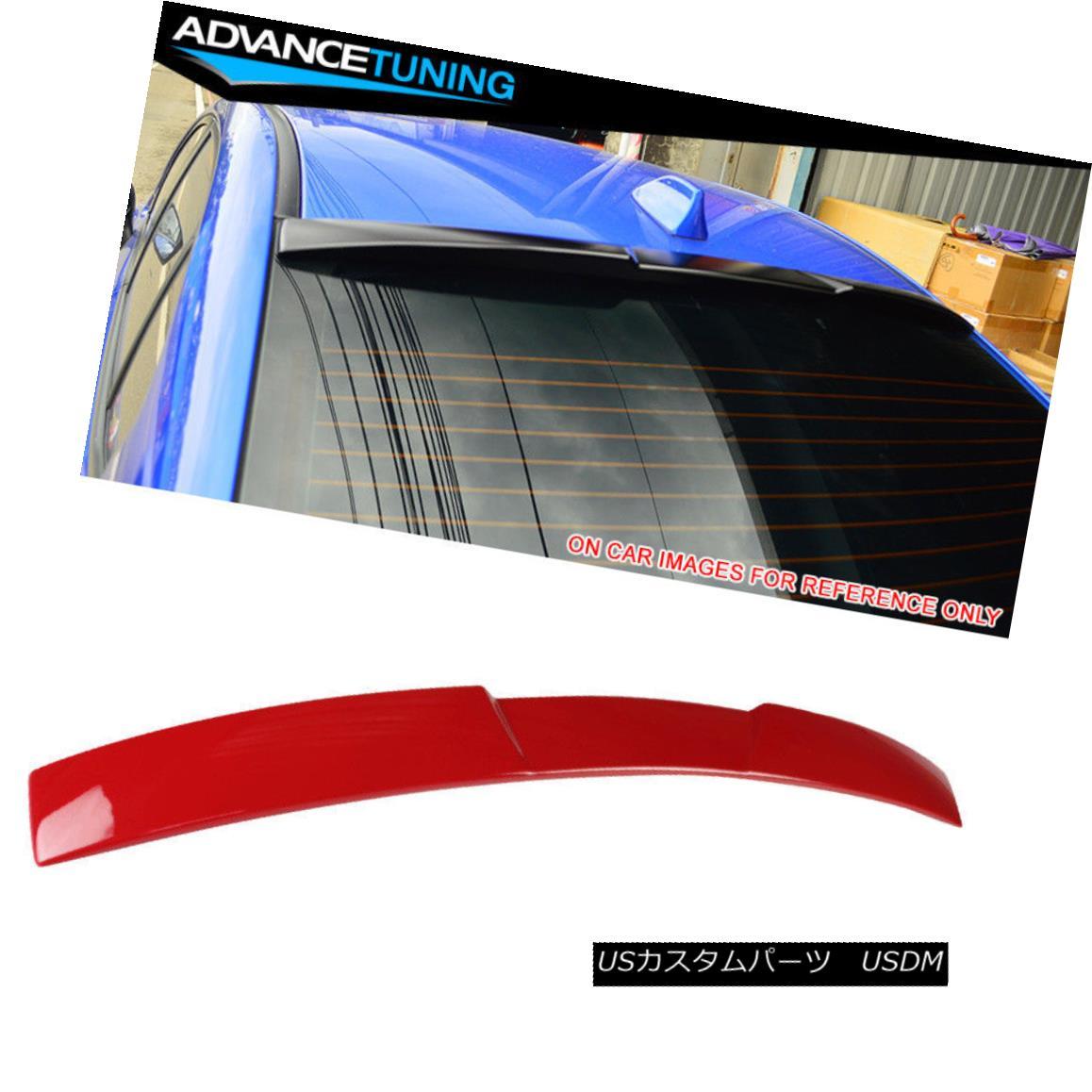 エアロパーツ Fits 15-18 Impreza WRX STI V Style Roof Spoiler OEM Painted Color #M7Y Pure Red フィット15-18インプレッサWRX STI VスタイルルーフスポイラーOEM塗装カラー#M7Yピュアレッド