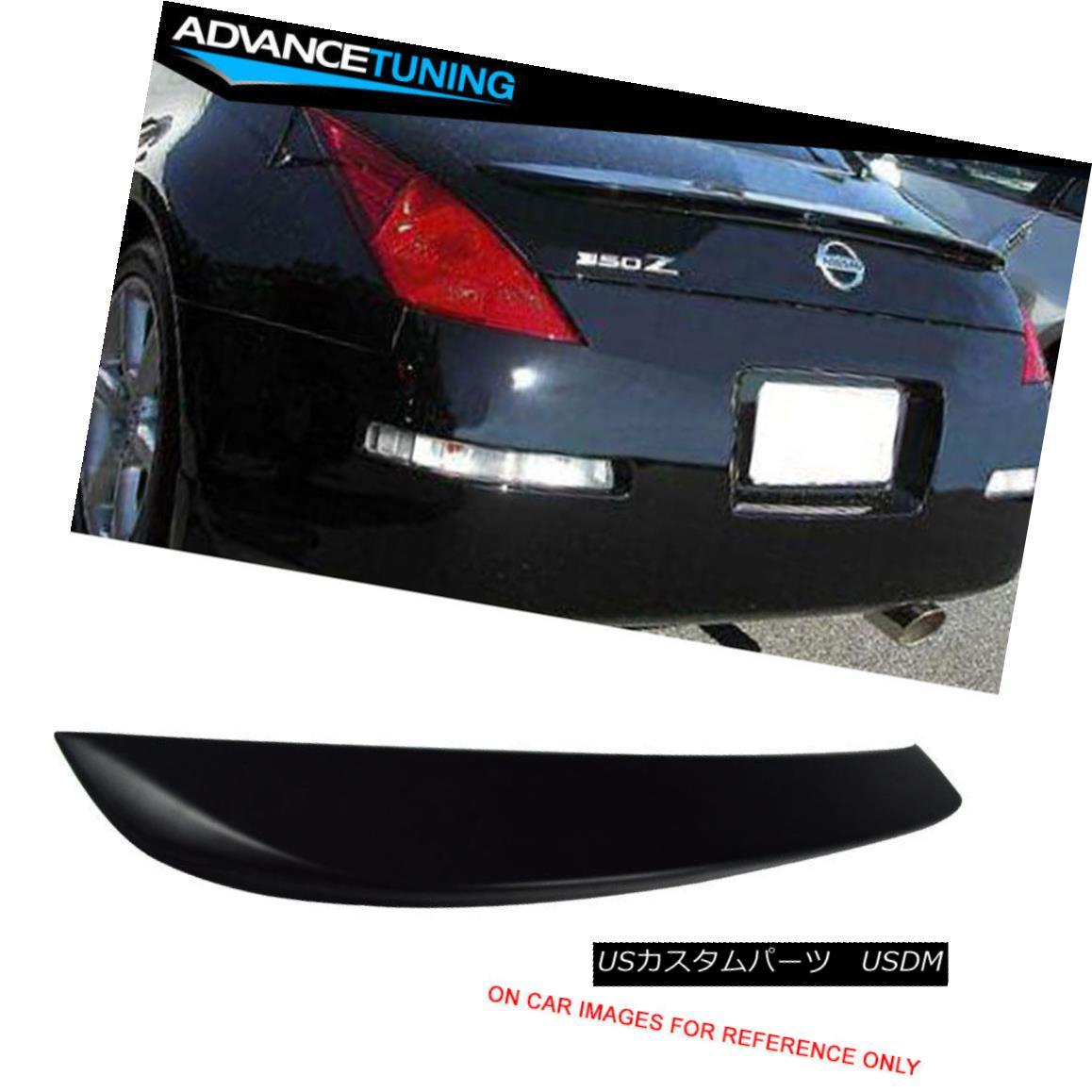 エアロパーツ For 03-08 Nissan 350Z OE Style Rear Trunk Spoiler Wing Unpainted ABS 03-08日産350Z OEスタイルリアトランクスポイラーウイング未塗装ABS