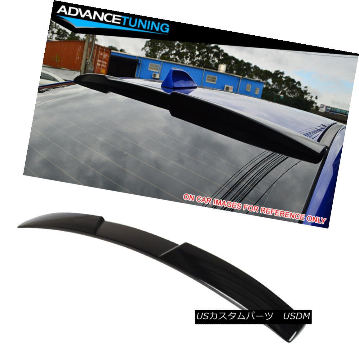 エアロパーツ Fits 15-18 WRX STI Roof Spoiler OEM Painted #D4S Crystal Black Silica Pearl フィット15-18 WRX STI屋根のスポイラーOEM塗装#D4Sクリスタルブラックシリカパール