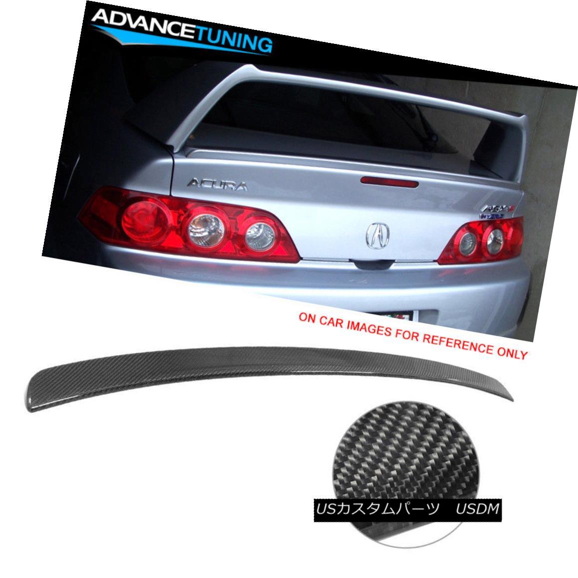 エアロパーツ Fits 02-06 Acura RSX Coupe 2Dr Aspec Style Trunk Spoiler Lid - Carbon Fiber CF フィット02-06アキュラRSXクーペ2Dr Aspecスタイルトランクスポイラー蓋 - 炭素繊維CF